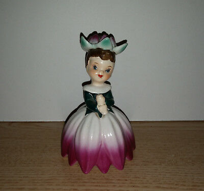 Vintage 1956 NAPCO Flower of the Month Girl July Water Lily Figurine, A1949