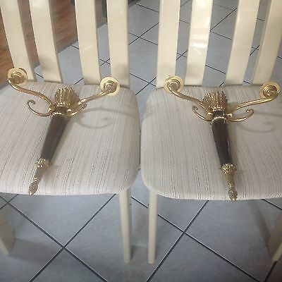 Unique Stunning Pair of Bronze Gold Plated Wall Sconces Art Deco? MINT CONDITION