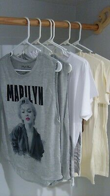 Lot of 6 Various Style Marilyn Monroe Shirts And Tank Tops