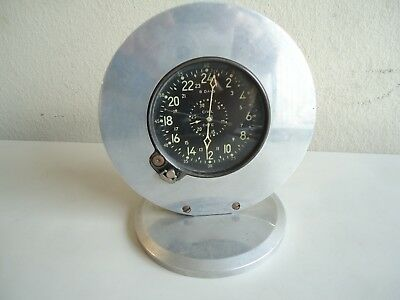 Vintage WWII US Army Aircraft Airplane 8 Day Waltham CDIA Clock Works