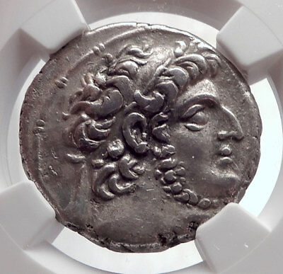 DEMETRIOS III Eukairos Seleukid Ancient Silver Greek Tetradrachm Coin NGC i64271