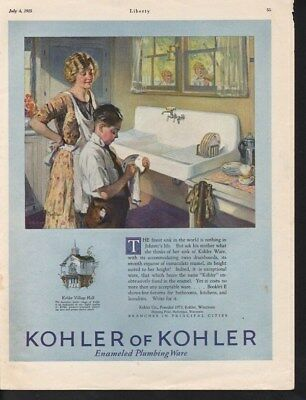 1925 Kohler Plumbing Sink Kitchen Decor Home Boy Chore-15019