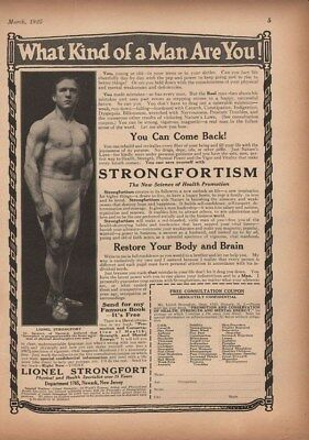 1925 Strongfort Fitness Health Program Strong Newark Ad14219