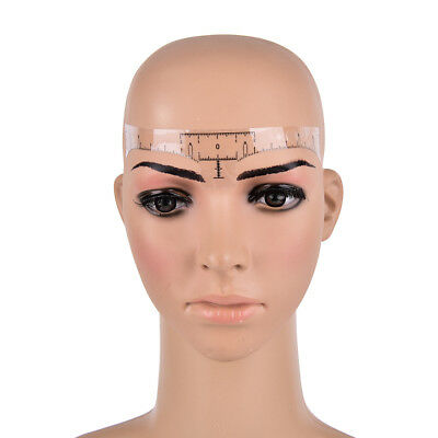 Disposable Eyebrow Stencil Makeup Microblading Measure Tattoo Ruler Beauty Tool~