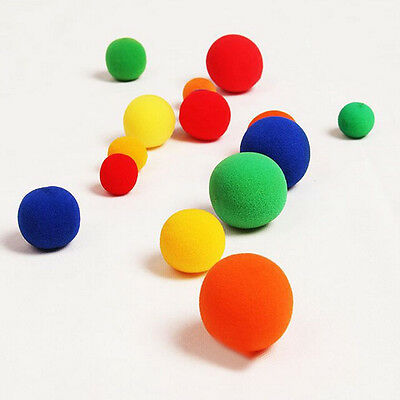10x Finger Magic Props Sponge Ball Close-UP Street Illusion Stage Comedy Trick H