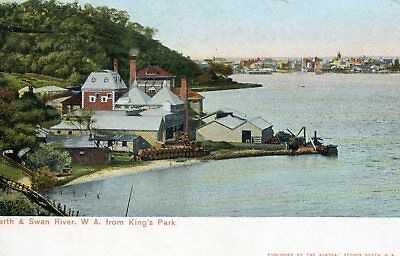 Postcard - Perth & Swan River from King's Park, Western Australia. C1905.