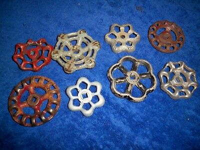 Lot of 8 Vintage Water Valve Handles for Steampunk Art or Plumbing Use