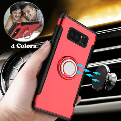 For Samsung Galaxy Note 8/S8+ Plus Ring Holder Phone Case Shockproof Armor Cover