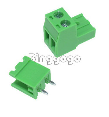 5Stks KF2EDGK KF-2P 2PIN Right Angle Plug-in Terminal Connector 5.08mm Pitch