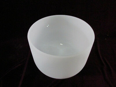 """Classic Frosted Quartz Crystal Singing Bowl 8"""" G Note Throat Chakra with Mallet"""
