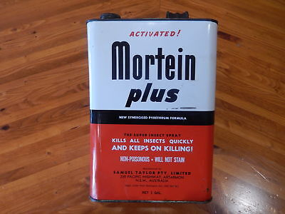 Vintage Mortein Plus Tin