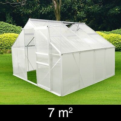 vidaXL Garden Greenhouse Cold Frame Polycarbonate Cover House Shed Multi Sizes