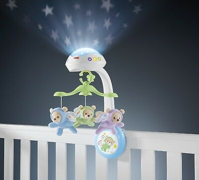 Baby Musical Butterfly Remote Mobile Projection Crib Light Pram Toys New Born