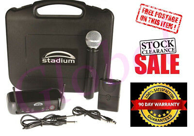 Wireless Guitar Mic UHF 60M Microphone Pack Carry Case WGUITMP