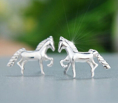 Horse & Western Jewellery Jewelry 925 Sterling Silver Horse Stud Earrings