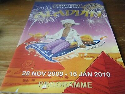 2009  Pantomime  Programme -  Aladdin -  At The  Theatre Royal Stratford East -