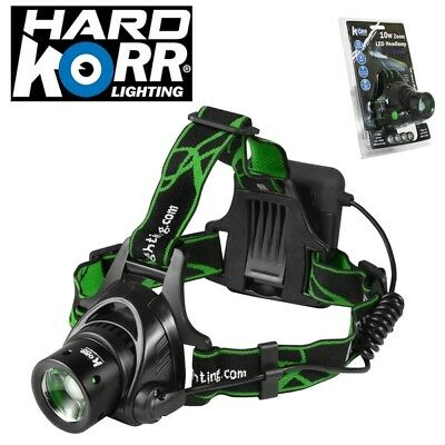 Hard Korr Lighting 10W CREE Zoomable LED Headlamp 850 Lumen HEADLAMP