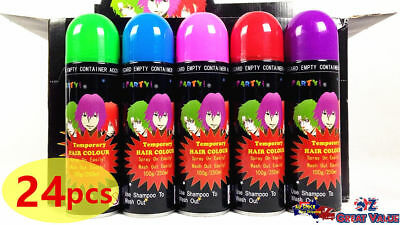24x Party Fun Temporary Hair Colour Spray On Washable Assorted Color 100g PA073