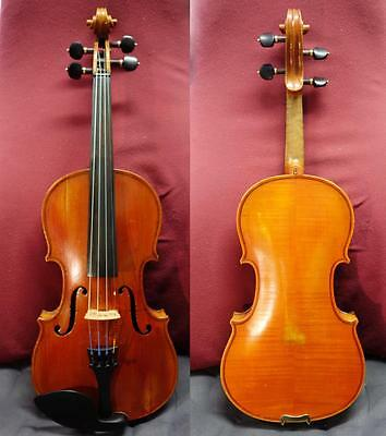 4/4 Old French labelled Violin Fine Full Size case and bow 바이올린 バイオリン