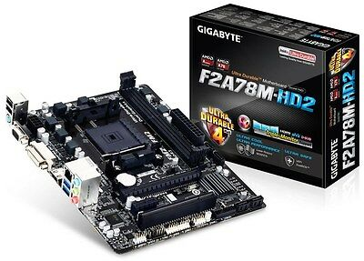NEW Gigabyte F2A78M-HD2 AMD Socket FM2+ Motherboard - ULTRA DURABLE