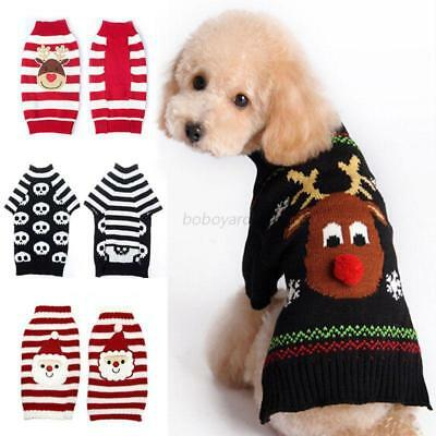 Dog Pet Christmas Clothes Costumes Puppy Cat Knit Sweater T-shrit Hoodie Apparel