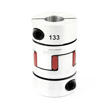 H● D40 L66 17x17mm Flexible Plum Coupling Shaft CNC Stepper Motor Coupler