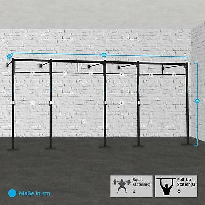 Capital Sports Fitness 580X170Cm Training Kraft Aufbau Squat Rack Klimmzugstange