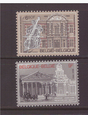 Belgium MNH 1982 Architecture National Music Conservatory mint set stamps