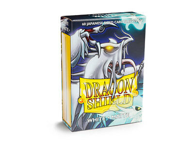Dragon Shield Small/Japanese Size Matte Sleeves (60 ct) - White