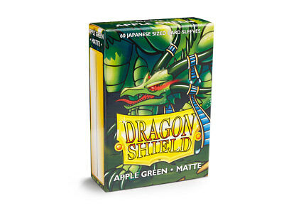 Dragon Shield Small/Japanese Size Matte Sleeves (60 ct) - Apple Green