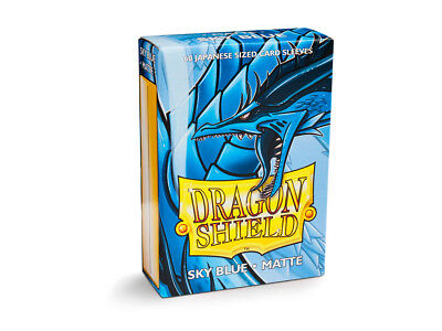 Dragon Shield Small/Japanese Size Matte Sleeves (60 ct) - Sky Blue