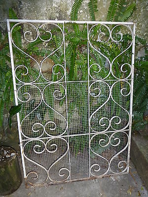 Vintage Decorative Wrought Iron Metal Security Grill Garden Art Panel Trellis