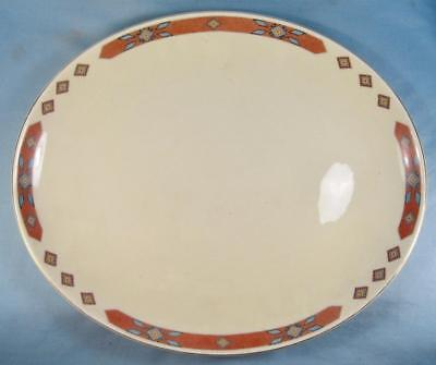 Iroquois Red 13 Inch Oval Serving Platter WS George Cavitt Shaw Diamond Band (O)