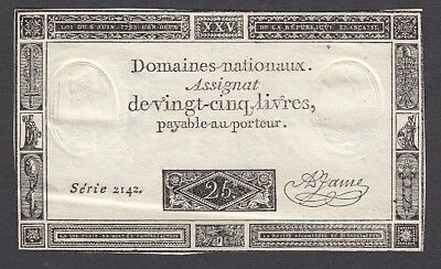 25 Livres From France 1793 A5 XF+