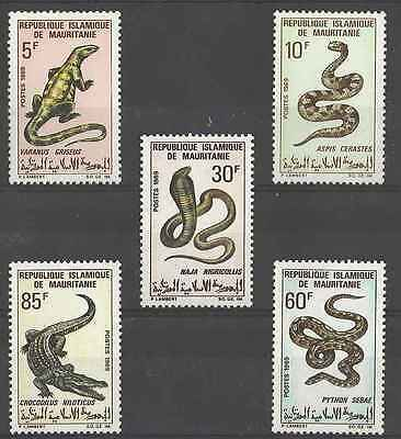 Timbres Reptiles Mauritanie 263/7 * lot 3742