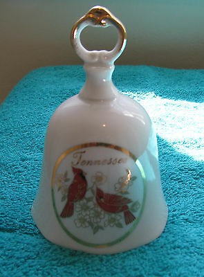 "PORCELAIN 24 K GOLD TENNESSE BELL ""Possible Vintage""  ~Excellent Condition~"