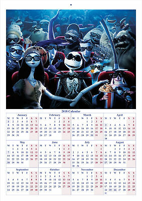 The Nightmare Before Christmas - 2018 A4 CALENDAR ***LATEST BUY 1 GET 1 FREE***