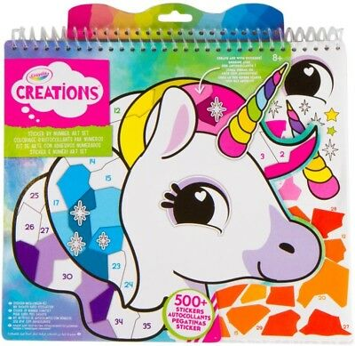NEW Crayola Creations Sticker By Number Art Set from Mr Toys