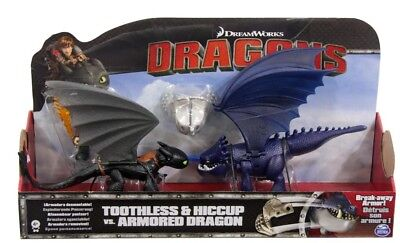 NEW Dragons Toothless And Hiccup Vs Armoured Dragon from Mr Toys