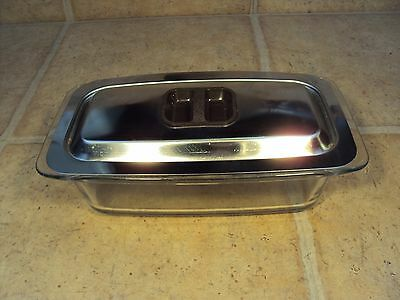 HOSTESS GLASS DISH WITH LID (from Phillips Trolley)