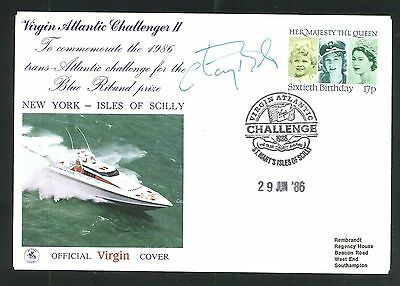 1986 Virgin Atlantic Cover - St Mary's Scilly Isles Pmk - Signed by Chay Blyth