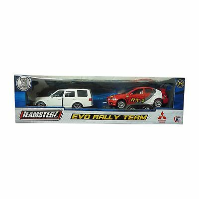 Teamsterz Evo Rally Team Range Rover With Red Rally Car On Trailer Toy NEW