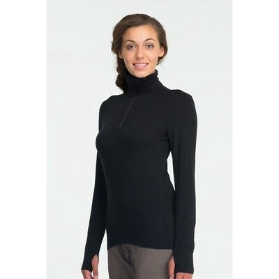 icebreaker Tech Top LS Half Zip Women, black