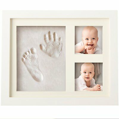 BEST BABY HAND & FOOTPRINT PICTURE FRAME KIT for Boys and Girls Cool & Unique...