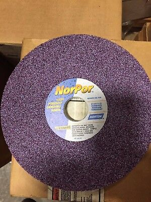 Norton NorPor 8in x 0.5in x 1.25in Surface Grinding Wheel 66253019346 ***NEW***