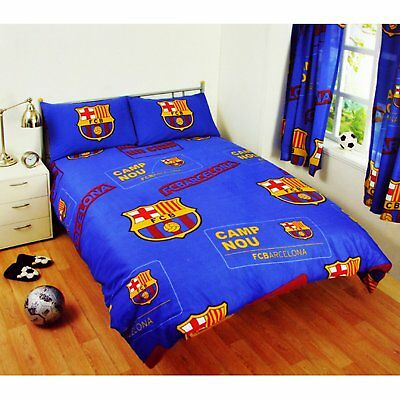 New Barcelona Football Club Double Bed Duvet Quilt Cover Set
