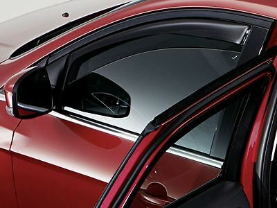Genuine Ford Focus (10/2014>) Front Wind Deflectors - Dark Grey (1741268)