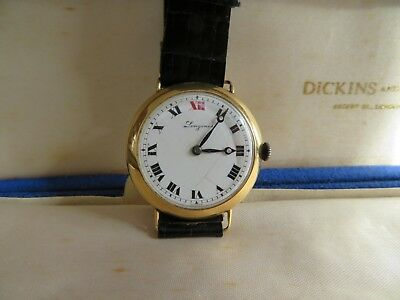 vintage wristwatch Longines 18 ct gold, boxed