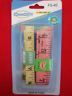 NEW 2x MEASURE TAPE  CRAFT SEW TAILOR BODY RULER MEASURING