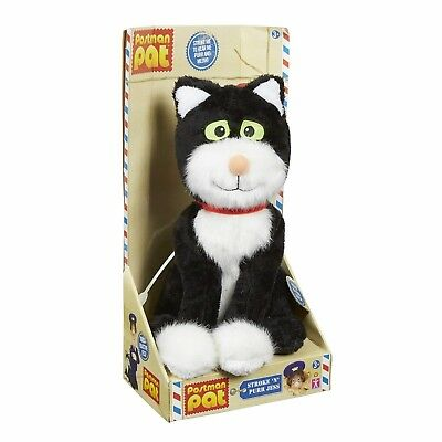 Postman Pat Toy Stroke n Purr Jess Cat Figure Purrs Meows When Stroked New Boxed